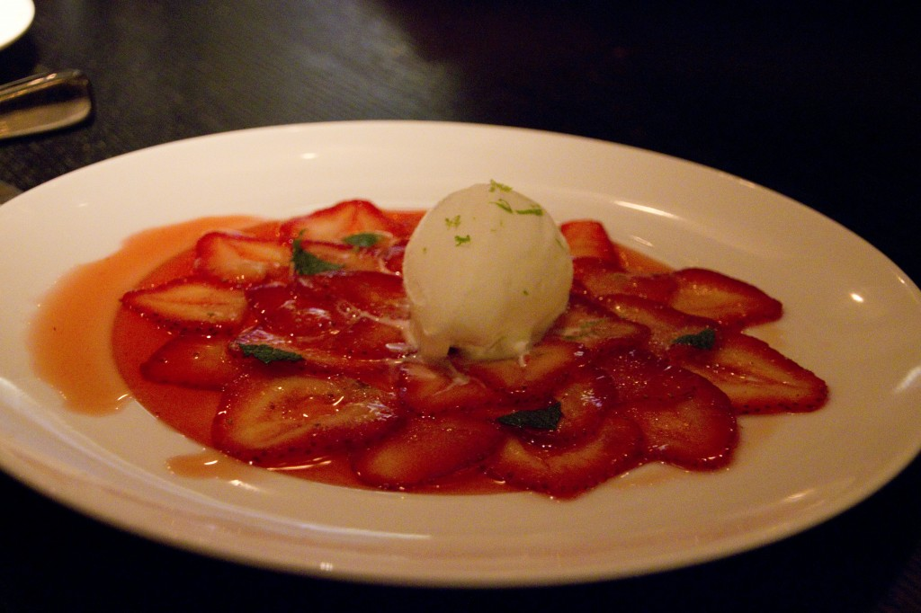 RPM Strawberry Carpaccio