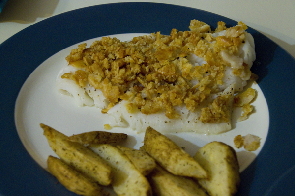 Butter Crumb Baked Cod
